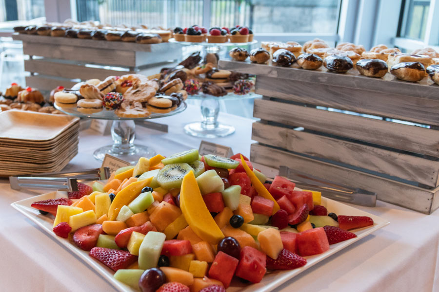 Fruit and Dessert buffet table