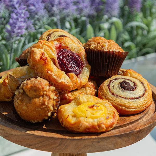 Muffins, Pastries on tray